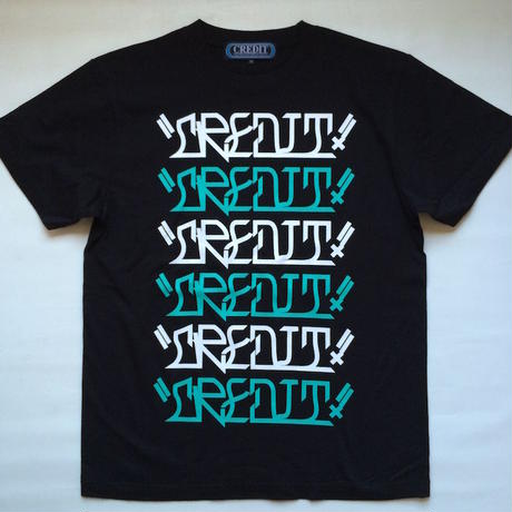 "CREDIT ""VATO TEXT"" グラフィック T-SHIRTS・Black"