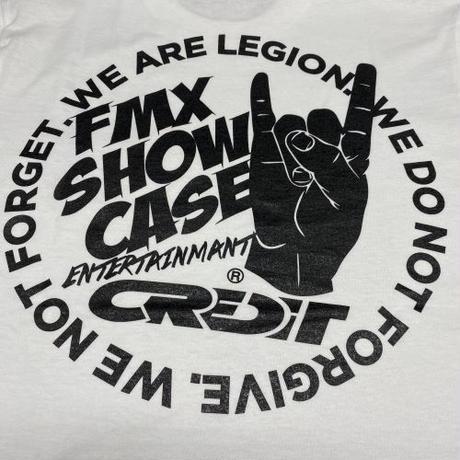 第二弾!CREDIT × FMX SHOW CASE・Cotton Tee・White × Black