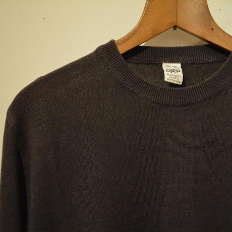 -grp- linen crew neck knit marrone