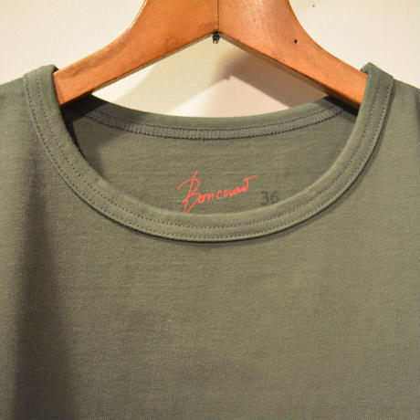 boncoura 2019aw ロングスリーブ・ヘビーウェイトポケtee ‐OLIVE‐