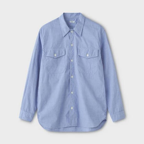 PHIGVEL‐MAKERS Co. PMAK‐LS03 UTILITY SHIRT (FRENCH BLUE)