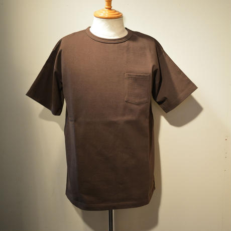 boncoura 2019ss ヘビーウエイトポケットtee -BROWN- (新色)
