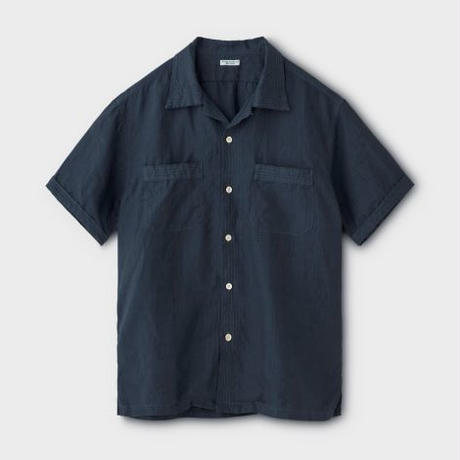 PHIGVEL‐MAKERS Co. Linen Safari SS Shirt(InkNavy)