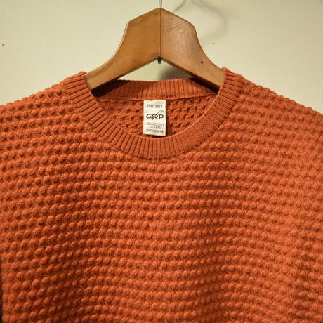 GRP  spotknit crew neck -arancio scuro-