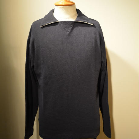 kenneth field L/S POLO (サーマルスキッパー) -NAVY-