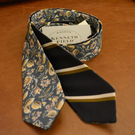 kenneth field  -2 FACE TIE LIMITED-(FROWER/NAVY STRIPE)
