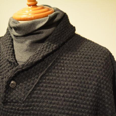 GRP  spotknit shawlcollar -ANTRACITE-