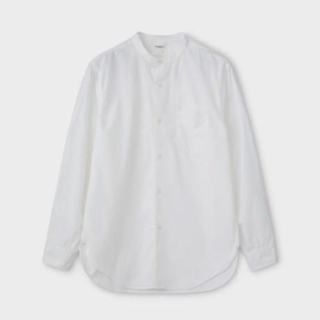 PHIGVEL MAKERS & Co.  PMAL-LS02 / BAND COLLAR DRESS SHIRT (OFF WHITE)