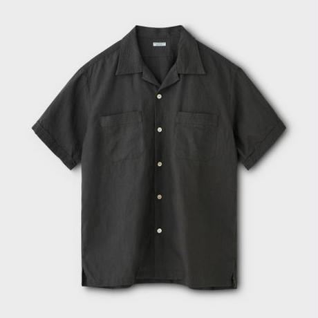 PHIGVEL‐MAKERS Co. Linen Safari SS Shirt(SEPIAGRAY)