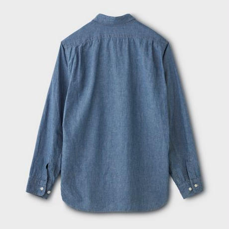 PHIGVEL‐MAKERS Co. C/L Chambray Shirt (FADEINDIGO)