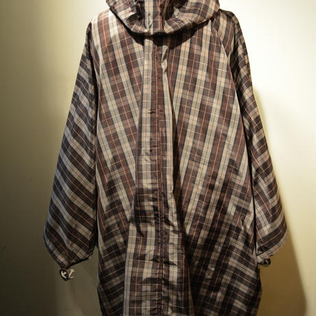 kenneth field PONCHO ‐NYLON OXFORD BROWN-