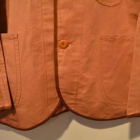kenneth field -JACKET-(RUST)55 %cotton/45%linen