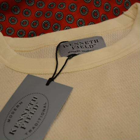 kenneth field 2019ss L/S THERMAL CREWNECK(NATURAL)