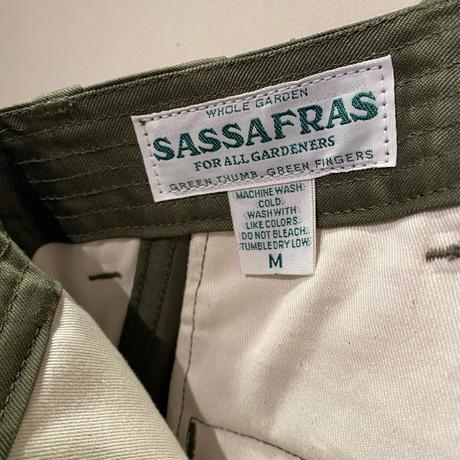 SASSAFRAS -sprayer pants- OLIVE