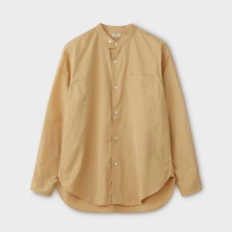 PHIGVEL MAKERS & Co.  PMAL-LS02 / BAND COLLAR DRESS SHIRT (VINTAGE YELLOW)