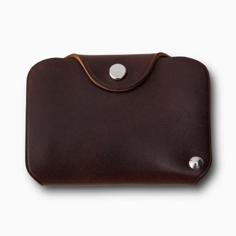 PHIGVEL‐MAKERS Co. pm‐㏄ card case -brown-
