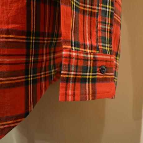 SASSAFRAS ‐green thunb shirt‐ tartan check (RED)