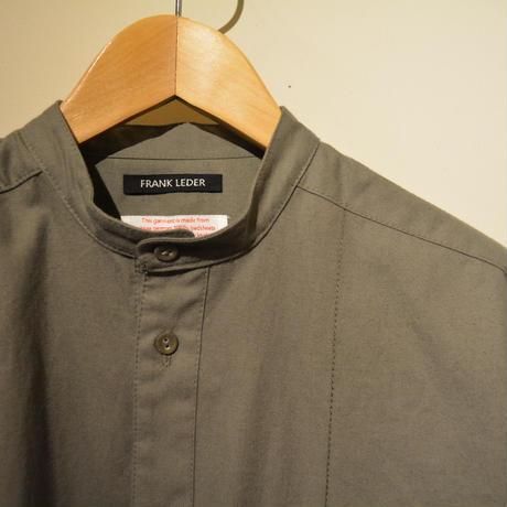 Frank Leder-bedlinenshirt- (StandCollar)OLIVE