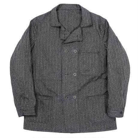 WORKERS‐Double Front Jacket‐ (Covert Herringbone Stripe)