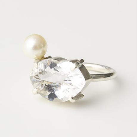 CR85(水晶/あこや真珠)
