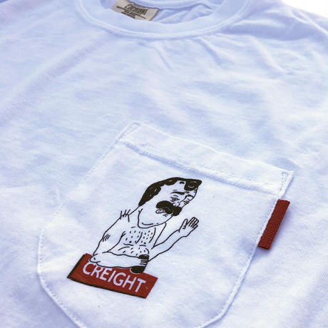 "CREIGHT""DANIEL CUSTOM POCKET GARMENT DYE TEE"" / WHITE"