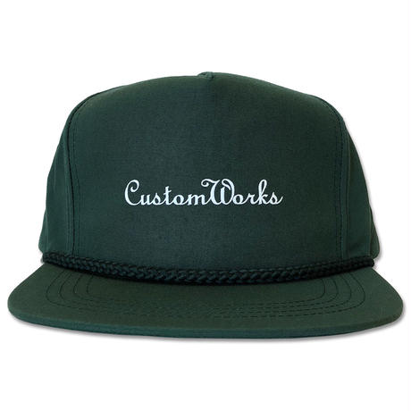 "CREIGHT CUSTOMWORKS ""5PANEL CAP"" / D.GREEN"