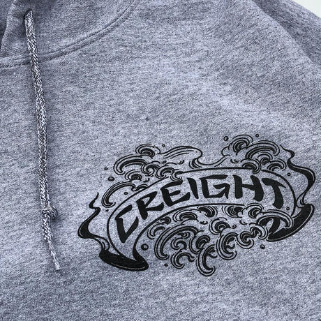 "CREIGHT×野坂稔和 ""波乗仙人図"" PullOver / H.GRAY"