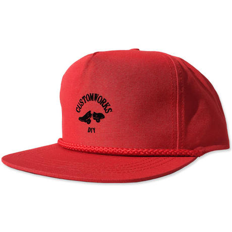 "【LimitedEdition】CREIGHT CUSTOMWORKS ""5PANEL CAP"" / RED"