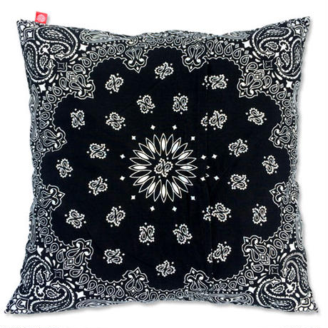 "CREIGHT BANDANNA COLLECTION ""CUSHION"" / BLACK"