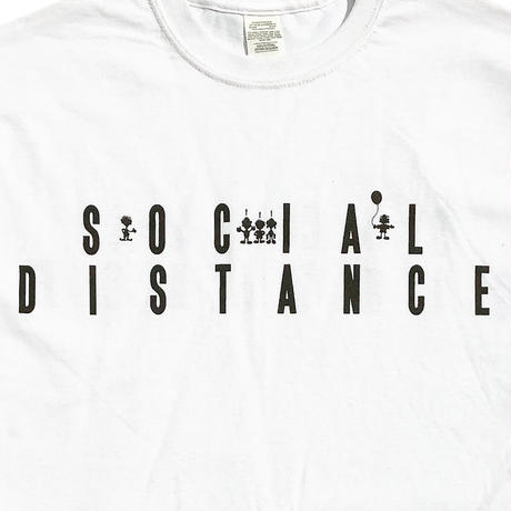 "SOUL SCREENING ""SOCIAL DISTANCE"" TEE /WHITE"