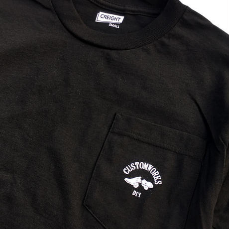 "CREIGHT CUSTOM WORKS ""POCKET TEE"" / BLACK"