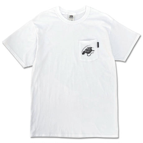 "野坂稔和×CREIGHT ""SKATE RAT CustomPocket TEE"" /WHITE"