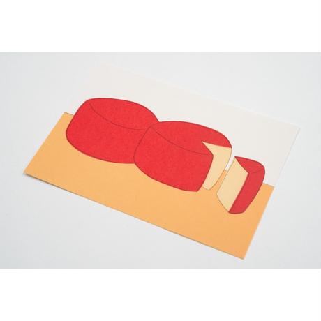 【安西水丸】ポストカード チーズ