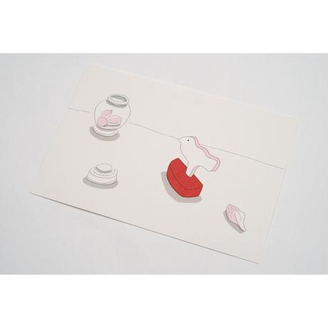 【安西水丸】ポストカード 白い鳥