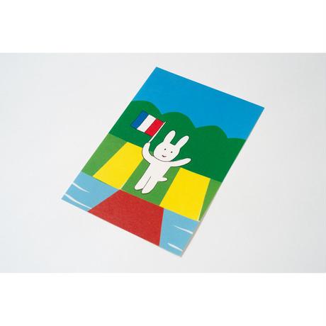 【安西水丸】ポストカード うさぎ