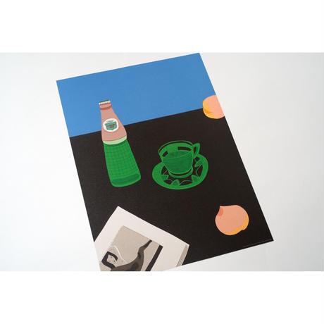 【安西水丸】B4サイズポスター 1995年2月零時42分