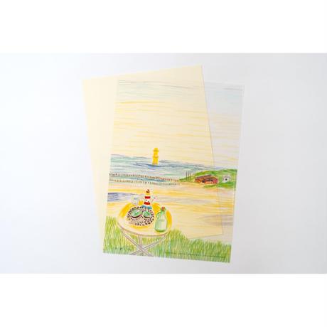 【安西水丸】A4クリアファイル 色鉛筆