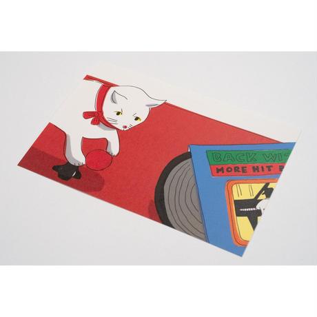 【安西水丸】ポストカード ねこ