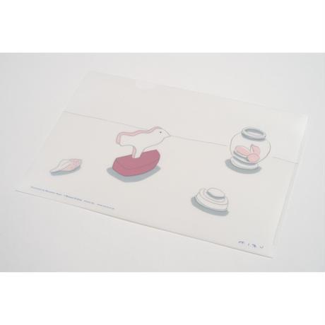 【安西水丸】A4クリアファイル 白い鳥