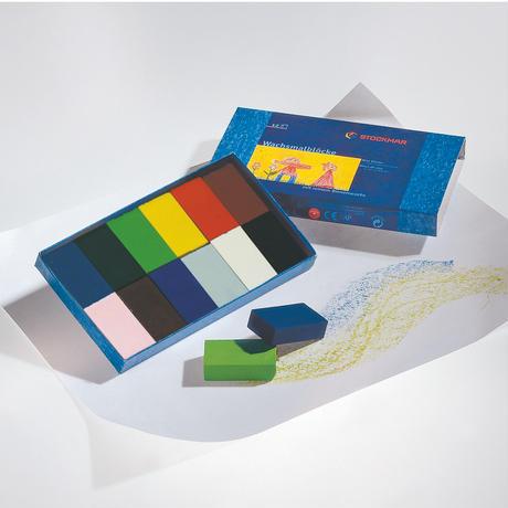 ブロッククレヨン12色紙箱 シュトックマー社