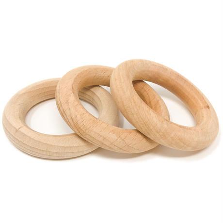 3フープ 小 白木 (3 Little hoops) 18-185