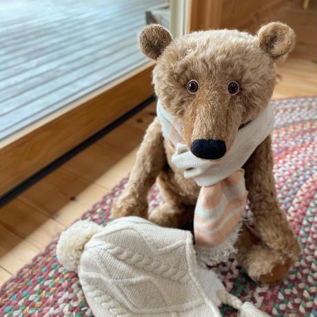 バーレーベンどうぶつ手人形 くまのオラフ ベージュ  【限定品】