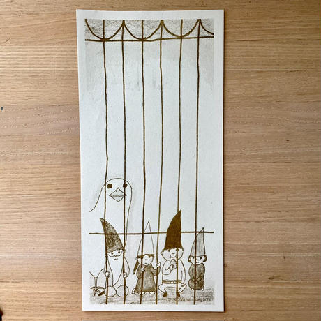出口かずみ 一筆箋 (鳥と小鳥たち)
