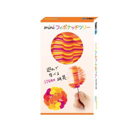 ミニフィボナッチツリー オレンジクリア(マグネット台座付)