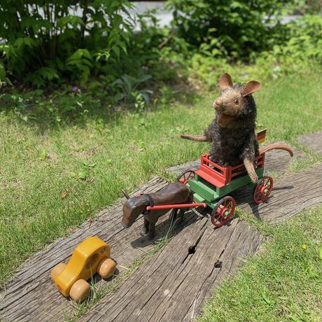 バーレーベンどうぶつ手人形 ねずみのフレニ グレー