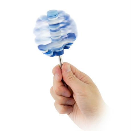 ミニフィボナッチツリー ブルー(マグネット台座付)