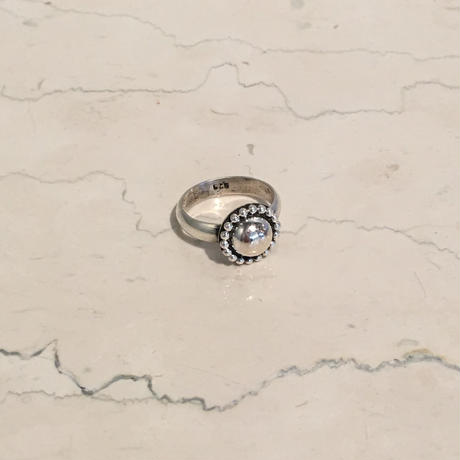 SILVER SMALL CONCHO RING(EA1206)