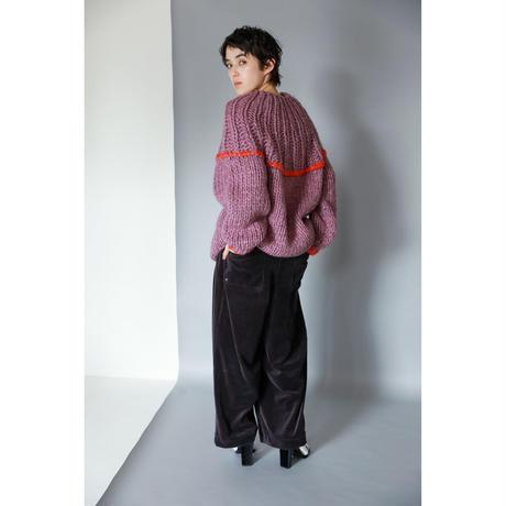 VELOUR WIDE PANTS(PC2005)