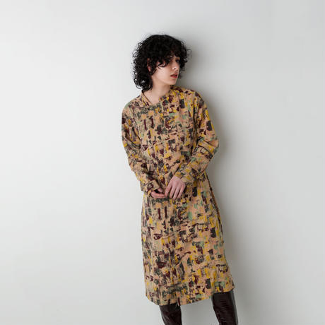 ABSTRACT PRINT DRESS(OB2005)