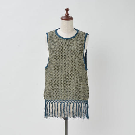 PLATING STITCH KNIT VEST(KC1005)